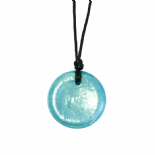 Button Pendant - 'Splash' (Teal) - Chewigem